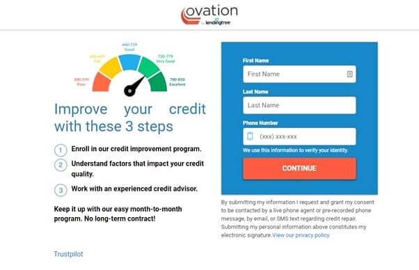 Ovation Credit Sign up