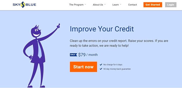 what is sky blue credit