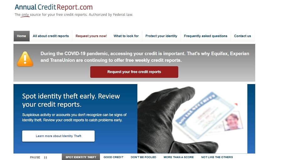 Free scores on Annual CreditReport.com