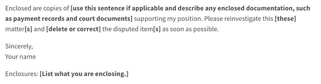 remove inquiries request letter