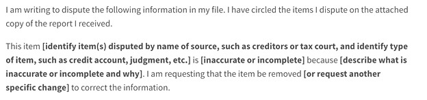 letter to remove inquiries