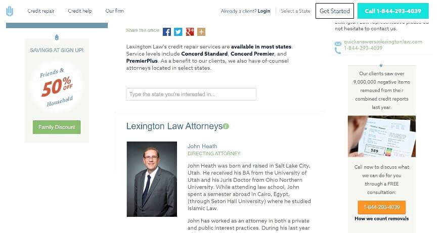 Lexington Law Attorney profiles