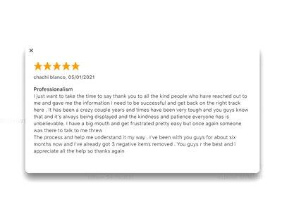 Lexington Law google review